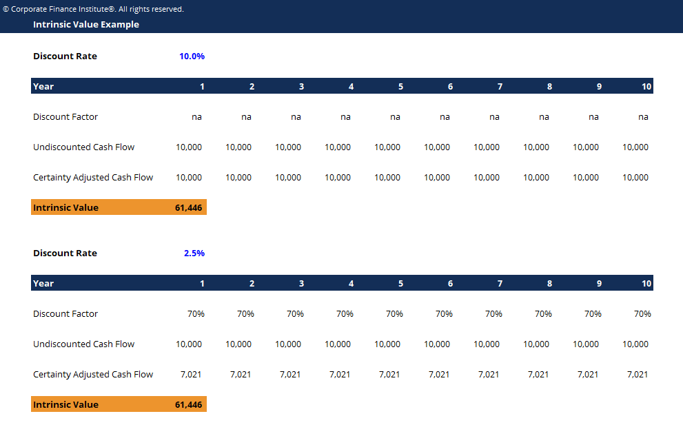 Intrinsic Value Template Screenshot