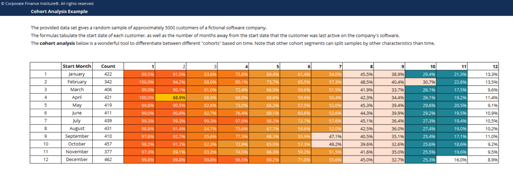 Cohort Analysis Template Screenshot