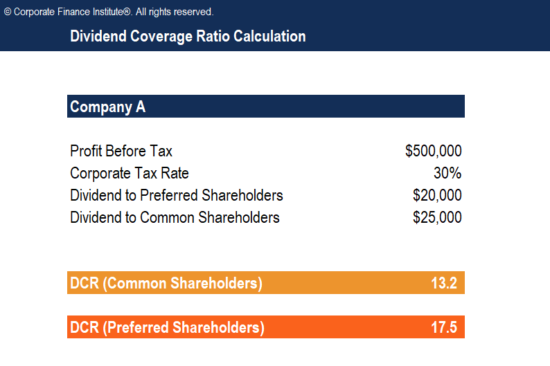 Dividend Coverage Ratio Template Screenshot