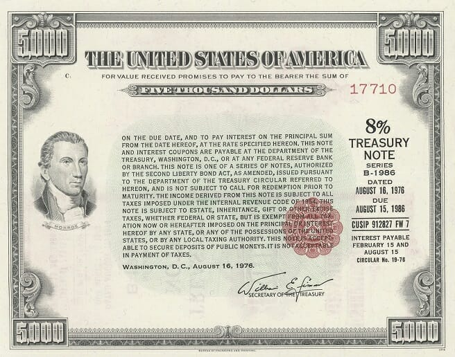 10-Year US Treasury Note (from 1976)