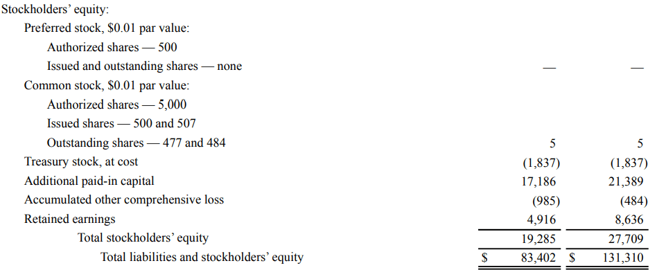 Financial Statements Examples - Stockholder's Equity