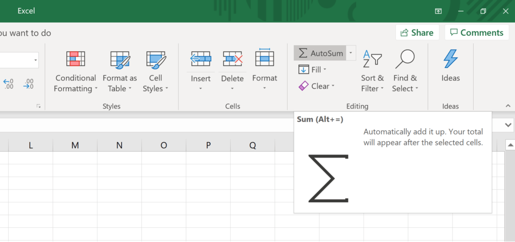 Basic Excel Formulas for Beginners - AutoSum