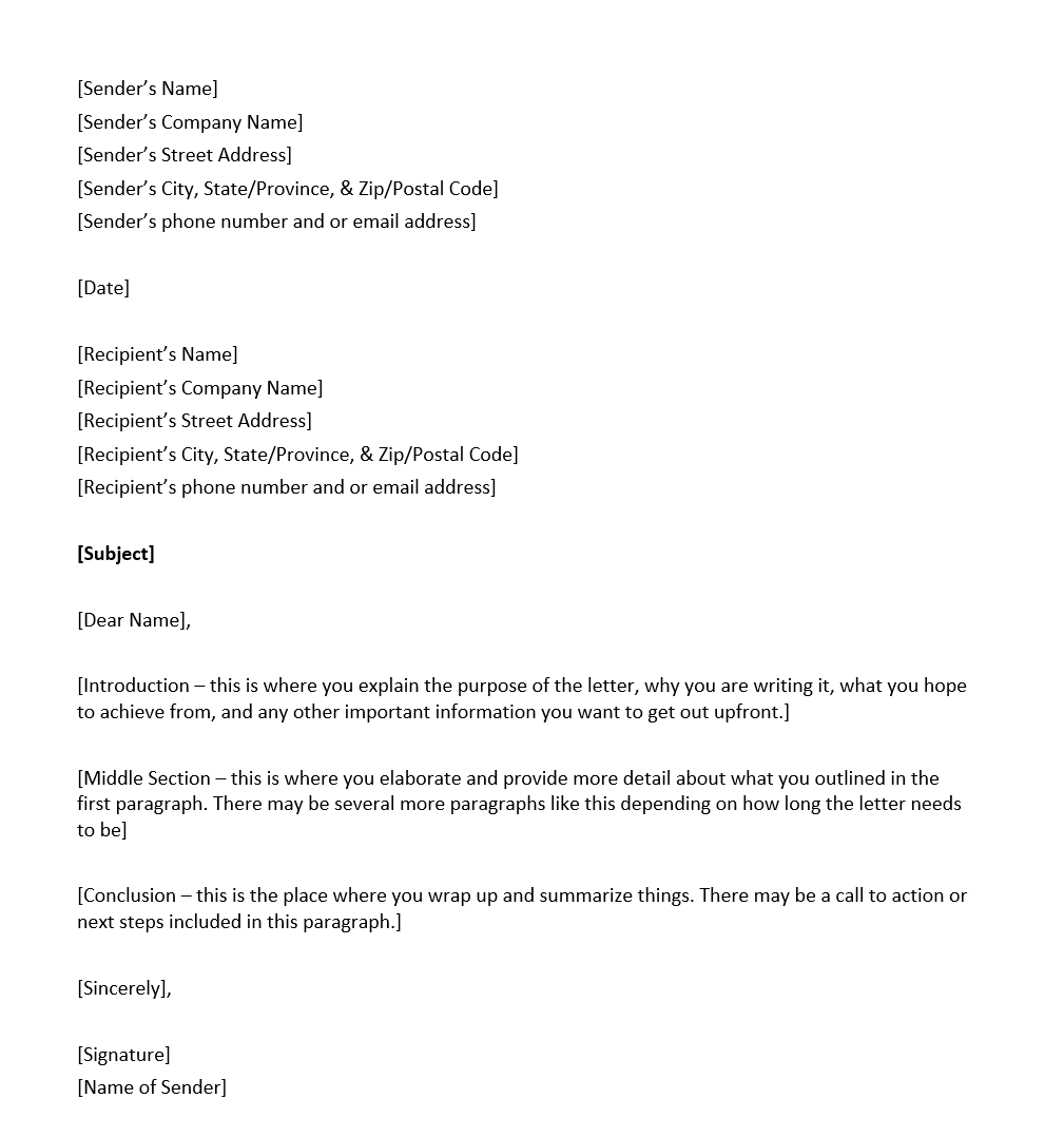 proper format for a business letter how to address a letter overview and things to include 24150 | Business letter format