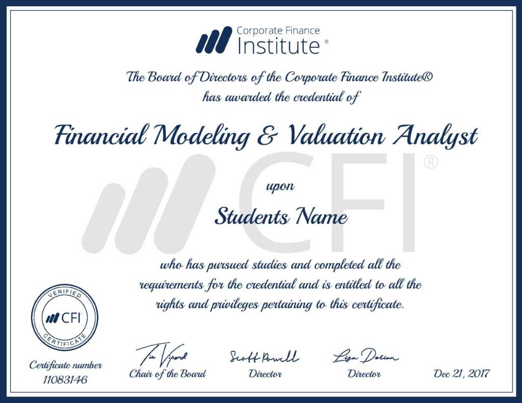 Certified Financial Modeler Cfi 39 S Analyst Certification
