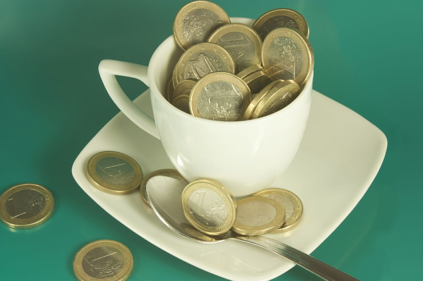 Cost Recovery Method- Cup with Euros in it