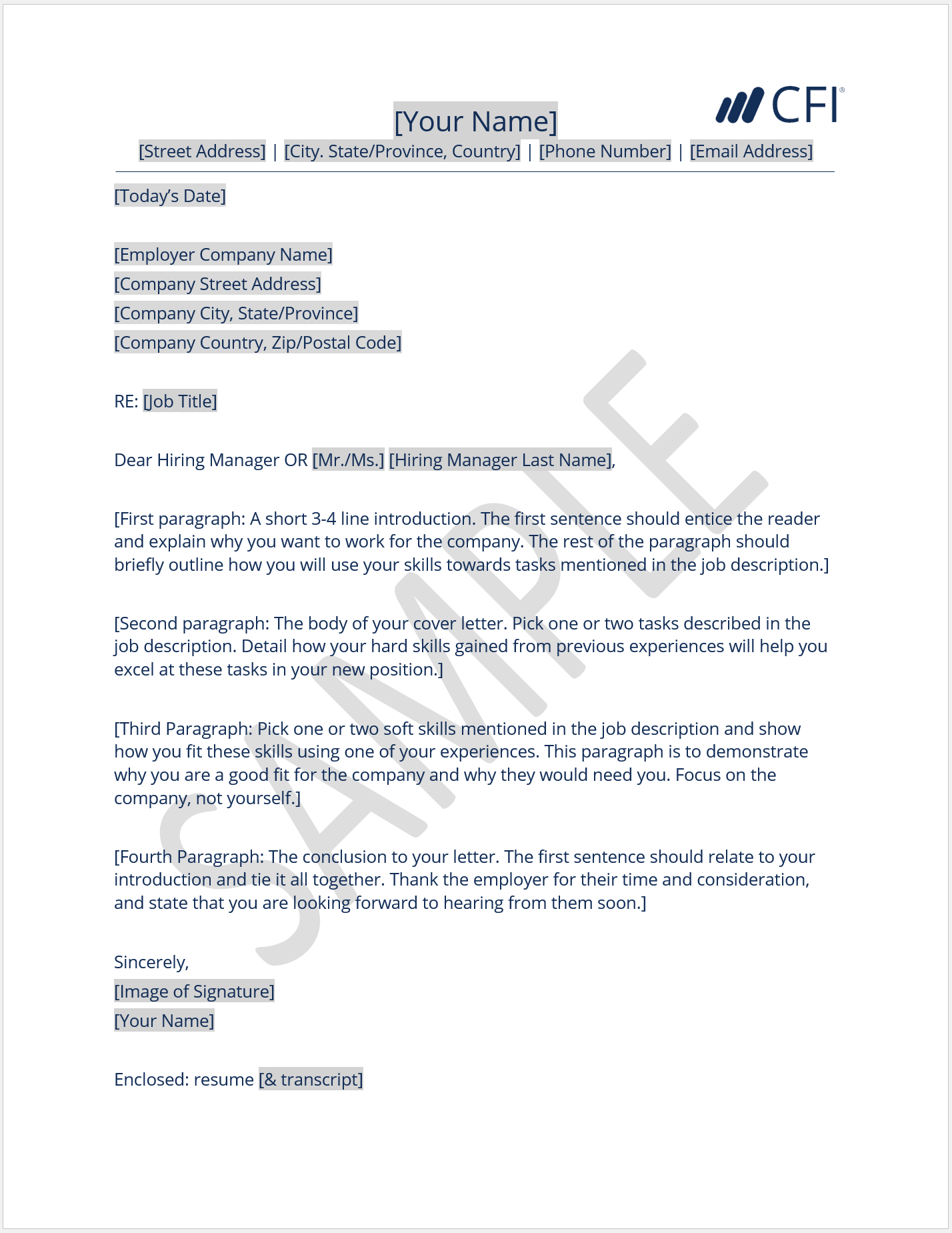 Cover Letter - How to Write a Cover Letter - Template and Examples