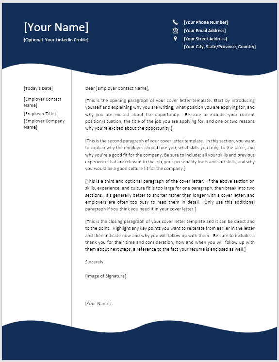use this cover letter template to get an interview free template