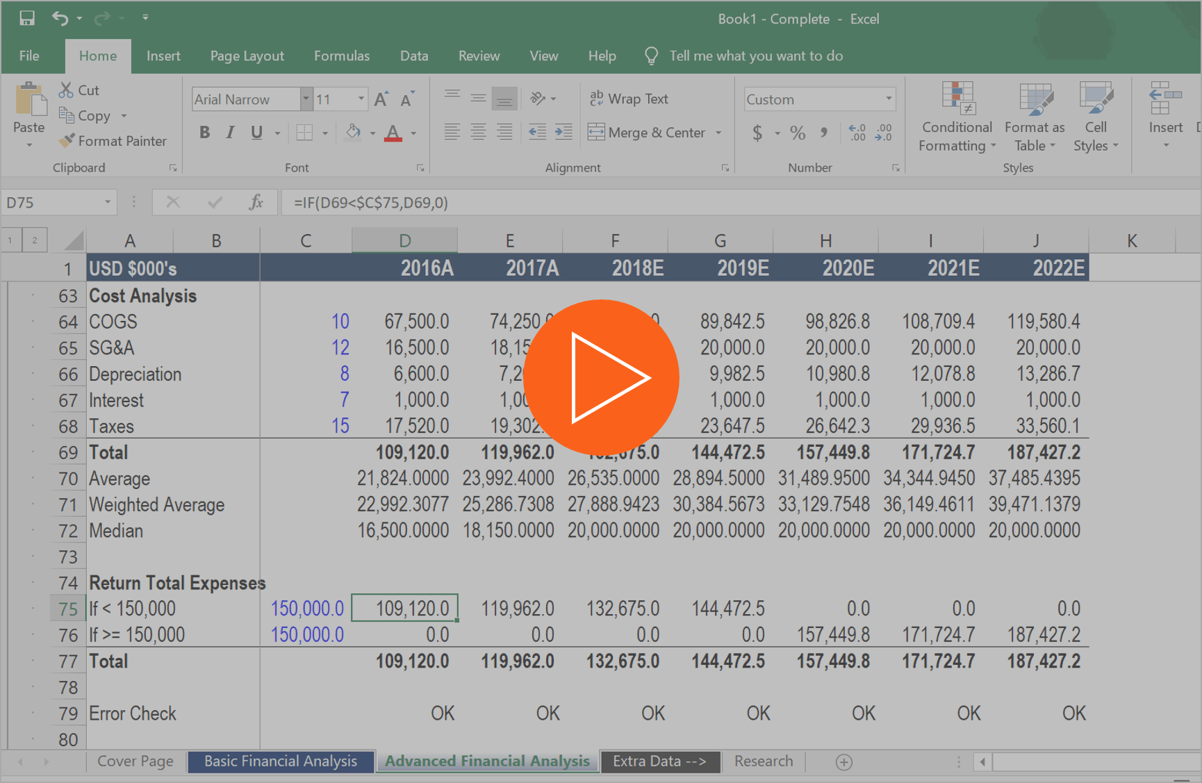 financial modeling tips