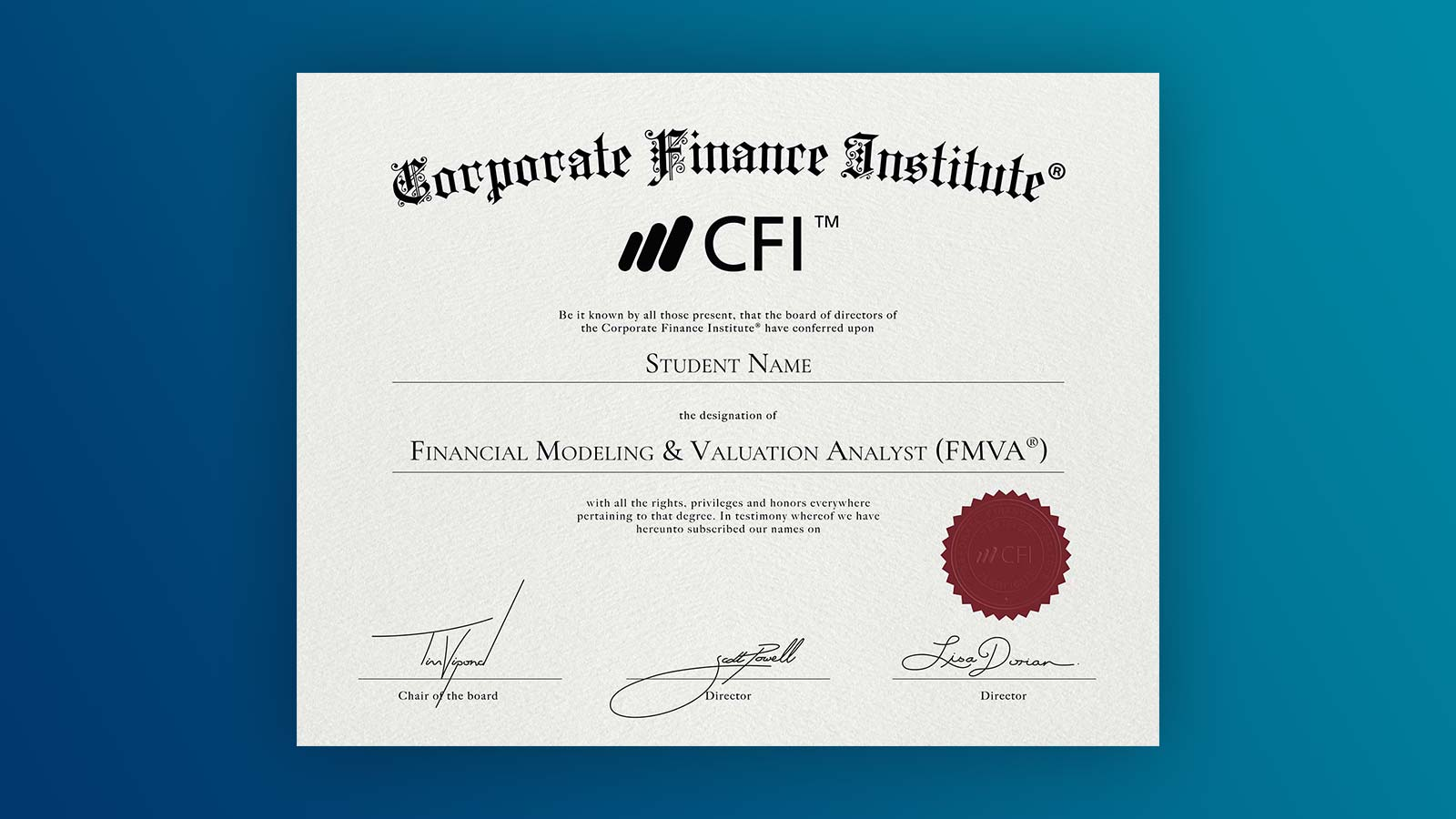 Financial Analyst Certification Financial Modeling