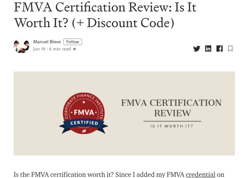 Manuel Bleve - Independent Review of the FMVA Program