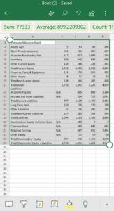 Microsoft Excel Data From Picture 9