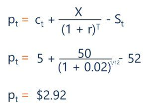 Put-call parity example question solution