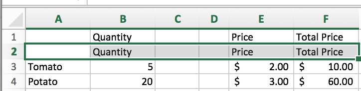 excel shortcut keys example 4