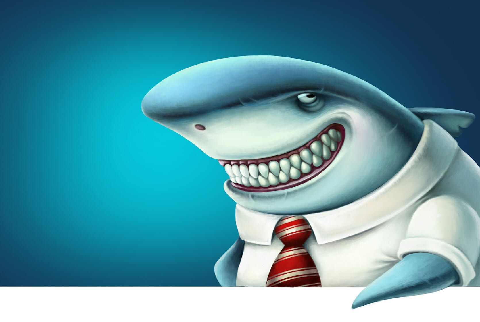 Shark repellent - Shark with tie