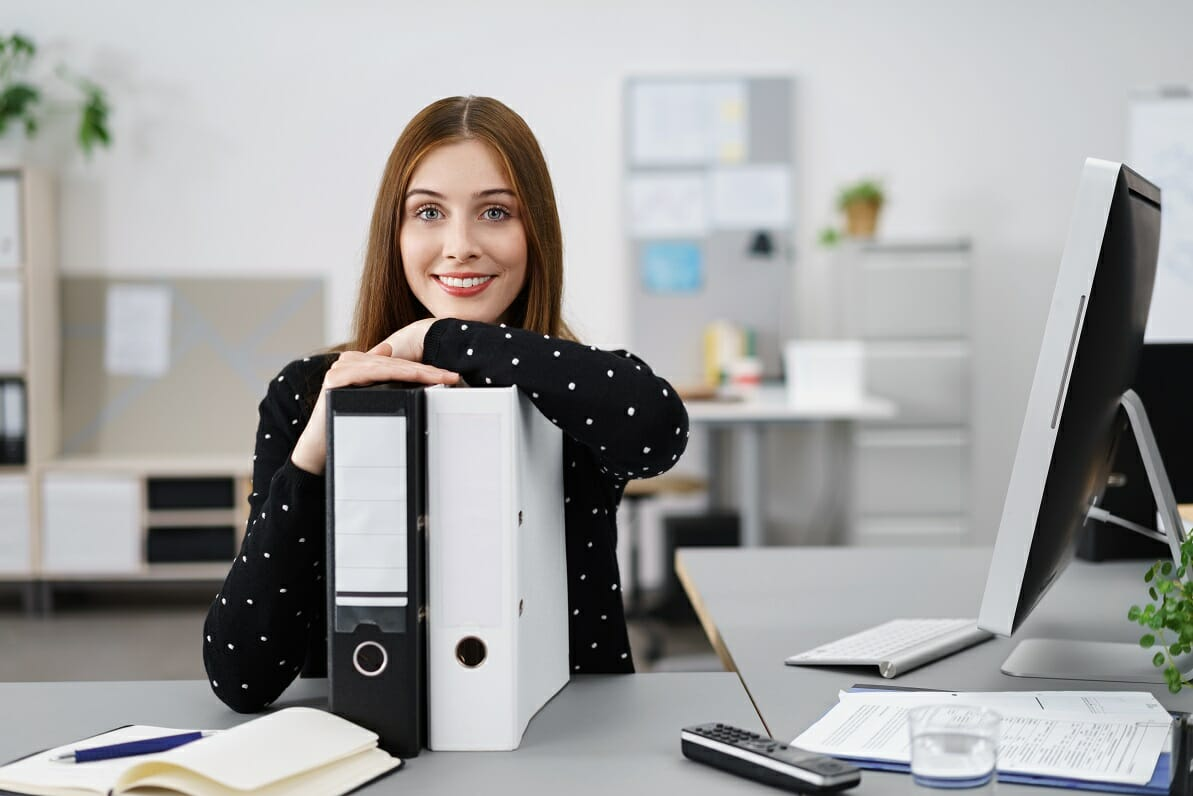 Accounting Clerk - Accountant at her desk