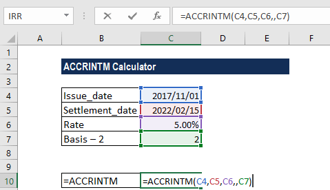 ACCRINTM Function - Example 3a