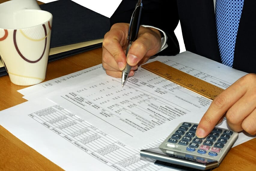Accrual Accounting Theme - Accountant at Desk