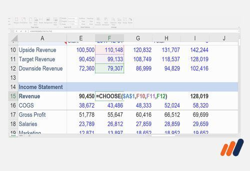 Online Excel Courses -Excel spreadsheet showing complex formulas from advanced excel course