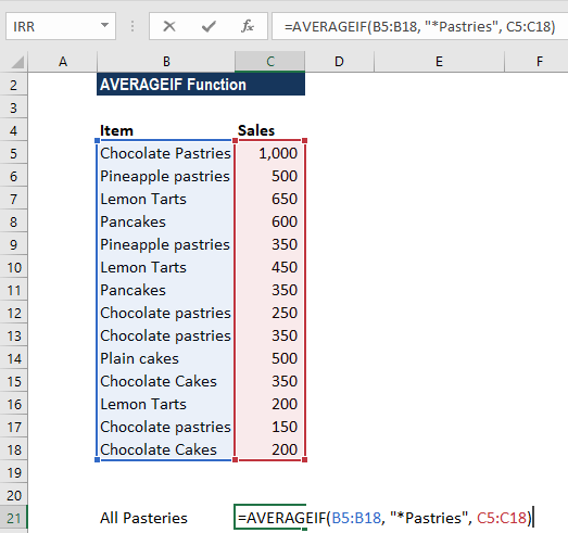 AVERAGEIF Function - Formula, Examples, How to Use