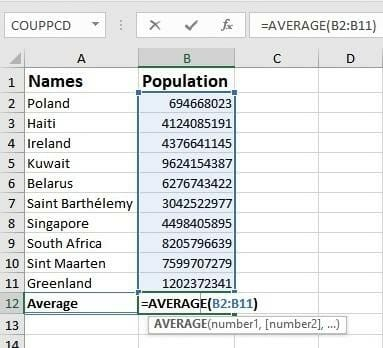 basic excel formulas list of important formulas for beginners