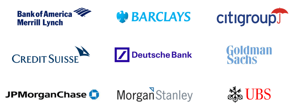 Bulge Bracket - Bank Logos