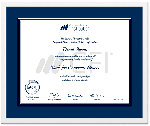 corporate finance certificate