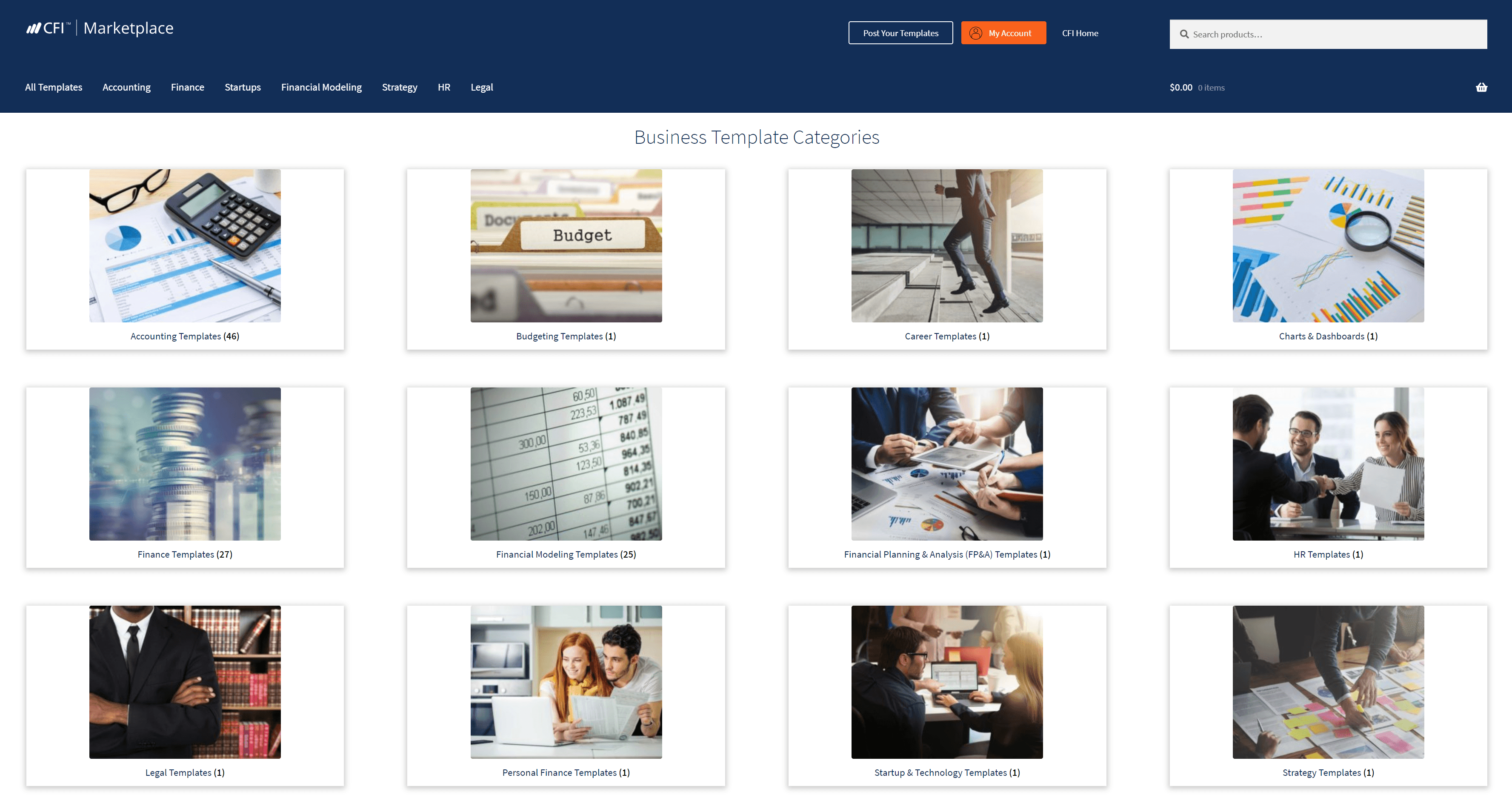 CFI Business Templates Marketplace