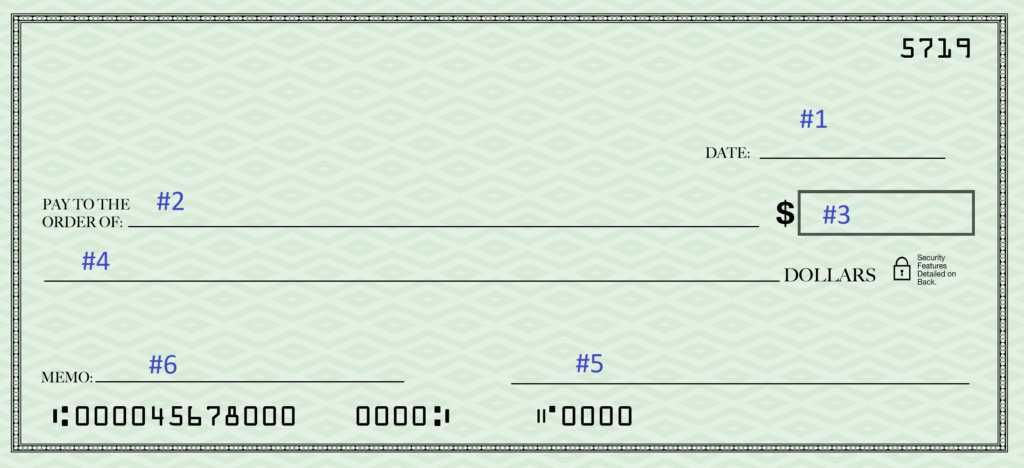 How to Write a Check - Learn How to Fill Out a Check, Example