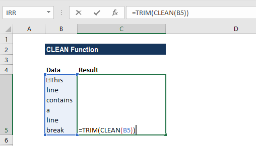 CLEAN Function - Example 2a