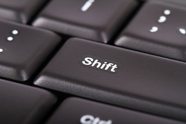 Excel confusions - shift key