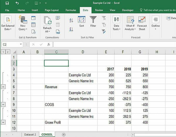 how to consolidate in excel