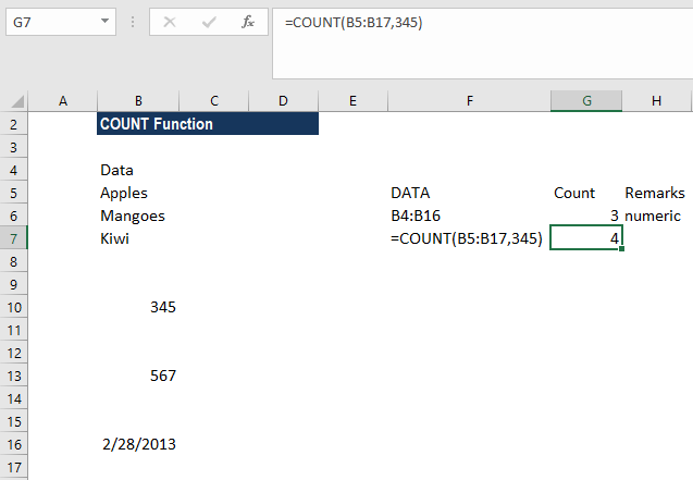 COUNT Function - Example 2c