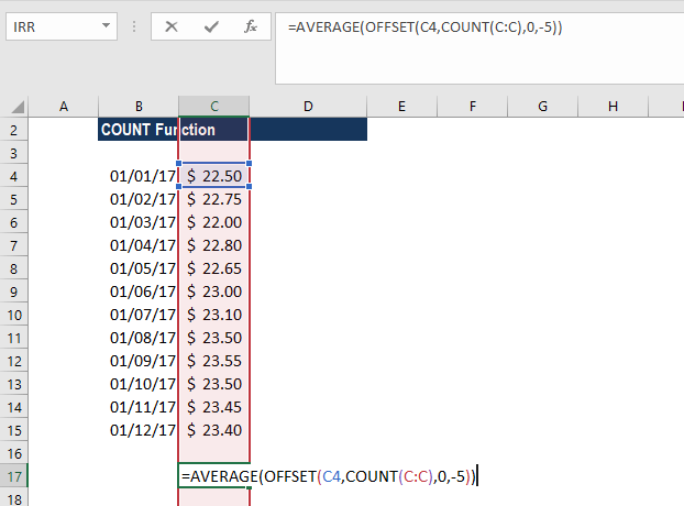 COUNT Function - Example 3a