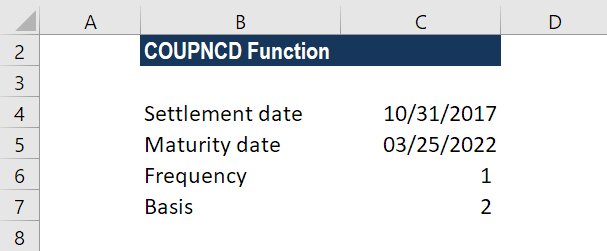 COUPDNCD Function - Example 2