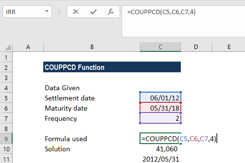 COUPPCD Function - Example 1
