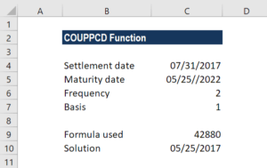 COUPPCD Function - Example 2a