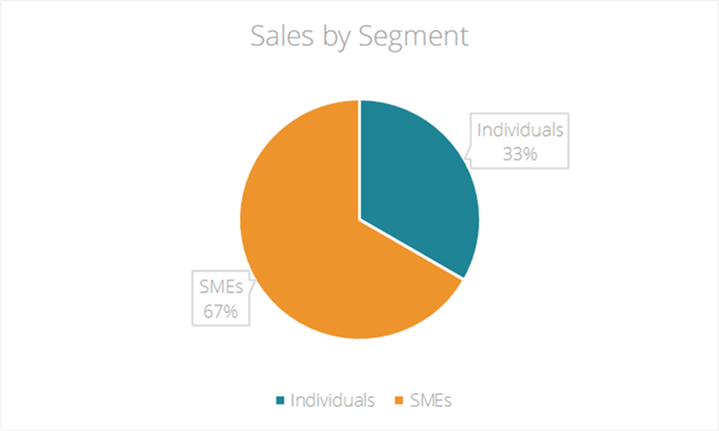 Sales by Segment Chart