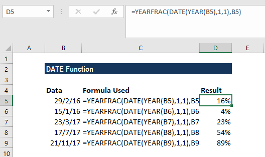 DATE Function - Example 1a
