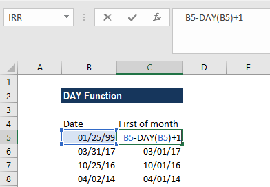DAY Function - Example 3a