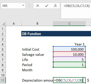 DB Function - Example 1
