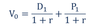 One-Period DDM - Formula