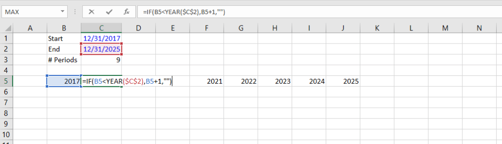 Dynamic Dates - Example 1c