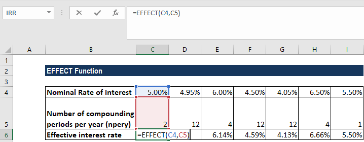 EFFECT Function - Example 1