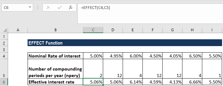 EFFECT Function - Example 1b