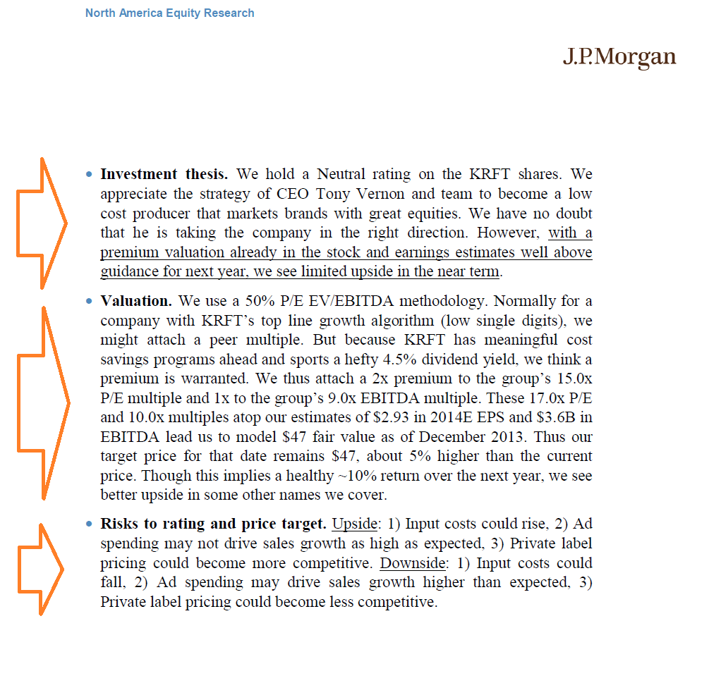 Equity Research Report Example
