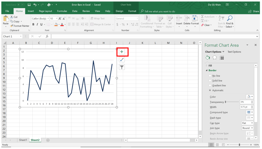 Error Bars in Excel
