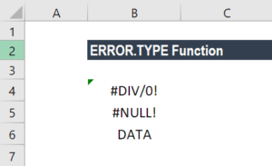 ERROR.TYPE Function