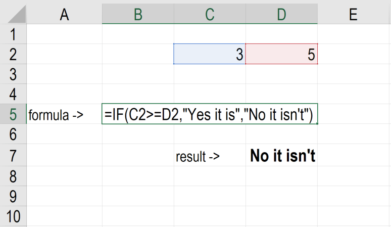 excel how to use if statement