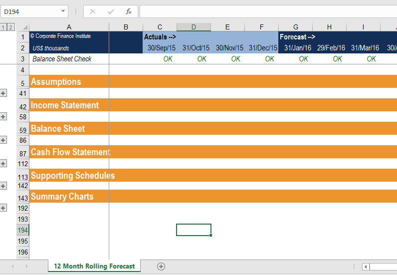 Documenting Excel Models Best Practices