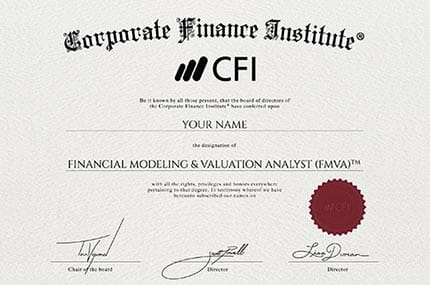 financial modeling certificate